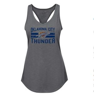 Oklahoma City Thunder Rhinestone Twist Back NWT L